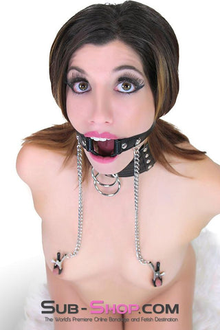 428P      Fetish Fantasy O-Ring Gag & Nipple Clamps - Sale BDSM, Bondage Gear, Adult Toys, Bondage Sex, Orgasm Belt, Male Chastity, Gags. Bondage Slave Collars, Wrist Cuffs, Submissive, Dominant, Master, Mistress, Crossdresser, Sub-Shop Bondage and Fetish Superstore