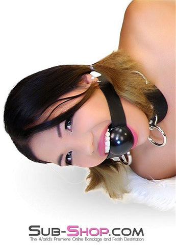 "431A   2"" Large Ball Gag, Black Gloss Ballgag - Sub-Shop.comGags - 4"