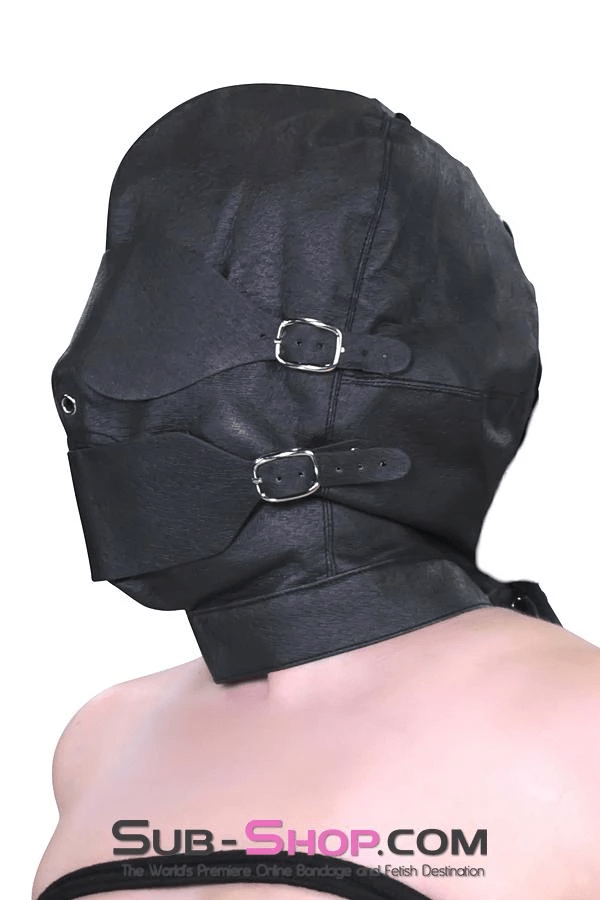 Full Bondage Hood with Buckling Blindfold and Gag - Sale BDSM, Bondage Gear, Adult Toys, Bondage Sex, Orgasm Belt, Male Chastity, Bondage Gag. Bondage Slave Collars, Wrist Cuffs, Submissive, Dominant, Master, Mistress, Cross Dressing, Sex Toys, Bondage Sale, Bondage Clearance, MEGA Deal Bondage, Sub-Shop Bondage and Fetish Superstore