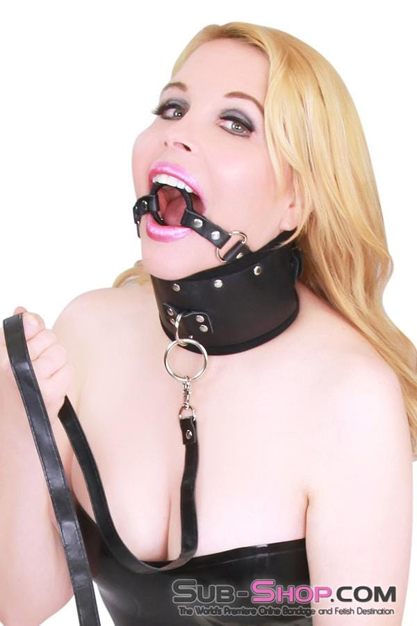 Open Up and Say Mmmmm Posture Collar with Ring Gag Combination Set - Sale BDSM, Bondage Gear, Adult Toys, Bondage Sex, Orgasm Belt, Male Chastity, Bondage Gag. Bondage Slave Collars, Wrist Cuffs, Submissive, Dominant, Master, Mistress, Cross Dressing, Sex Toys, Bondage Sale, Bondage Clearance, MEGA Deal Bondage, Sub-Shop Bondage and Fetish Superstore
