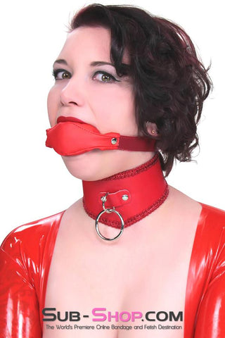 1814DL      Cherry Girl Chevron Slave Collar with Red Braiding - <b>MEGA Deal</b> - Sale BDSM, Bondage Gear, Adult Toys, Bondage Sex, Orgasm Belt, Male Chastity, Gags. Bondage Slave Collars, Wrist Cuffs, Submissive, Dominant, Master, Mistress, Crossdresser, Sub-Shop Bondage and Fetish Superstore