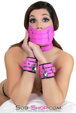 5772RS     Cuddle Up Hot Pink Lined Locking Bondage Wrist Cuffs - Sale BDSM, Bondage Gear, Adult Toys, Bondage Sex, Orgasm Belt, Male Chastity, Gags. Bondage Slave Collars, Wrist Cuffs, Submissive, Dominant, Master, Mistress, Crossdresser, Sub-Shop Bondage and Fetish Superstore