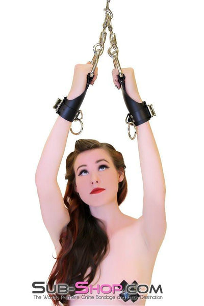 4729A    Suspension Bondage Leather Wrist Cuffs - Sale BDSM, Bondage Gear, Adult Toys, Bondage Sex, Orgasm Belt, Male Chastity, Gags. Bondage Slave Collars, Wrist Cuffs, Submissive, Dominant, Master, Mistress, Crossdresser, Sub-Shop Bondage and Fetish Superstore