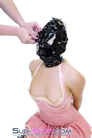 472HS     Punishment Hood with Collar and Removable Blindfold & Gag - Sub-Shop.comHoods - 4