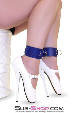 4764A   True Blue Bondage Ankle Cuffs - Sub-Shop.comWrist and Ankle Bondage - 1