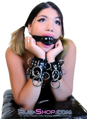 4777A     Rubber Total Control Wrist Bondage Cuffs - Sub-Shop.comWrist and Ankle Bondage - 3