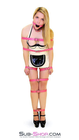 4781A      Hot Pink Leather Buckling Bondage Straps - <b>5 Sizes!</b> - Sub-Shop.comStraps - 3