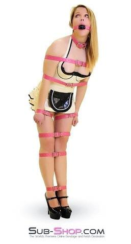 4781A      Hot Pink Leather Buckling Bondage Straps - <b>5 Sizes!</b> - Sub-Shop.comStraps - 1