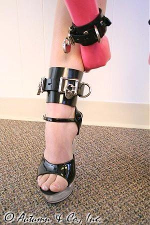 4785A    Deluxe Locking Rubber Bound Ankle or Elbow Cuffs - Sale BDSM, Bondage Gear, Adult Toys, Bondage Sex, Orgasm Belt, Male Chastity, Gags. Bondage Slave Collars, Wrist Cuffs, Submissive, Dominant, Master, Mistress, Crossdresser, Sub-Shop Bondage and Fetish Superstore