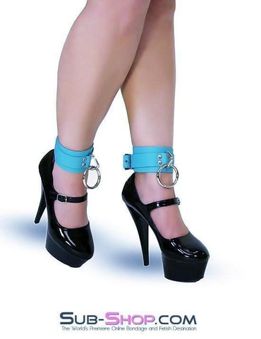 4792A    Tied & True Tiffany Blue Bondage Ankle Cuffs - Sub-Shop.comWrist and Ankle Bondage - 2