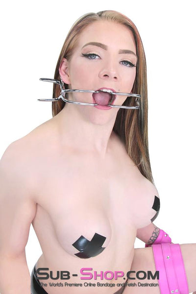485ZT      Jennings Mouth Spreader Medical Fetish Gag - Sale BDSM, Bondage Gear, Adult Toys, Bondage Sex, Orgasm Belt, Male Chastity, Gags. Bondage Slave Collars, Wrist Cuffs, Submissive, Dominant, Master, Mistress, Crossdresser, Sub-Shop Bondage and Fetish Superstore