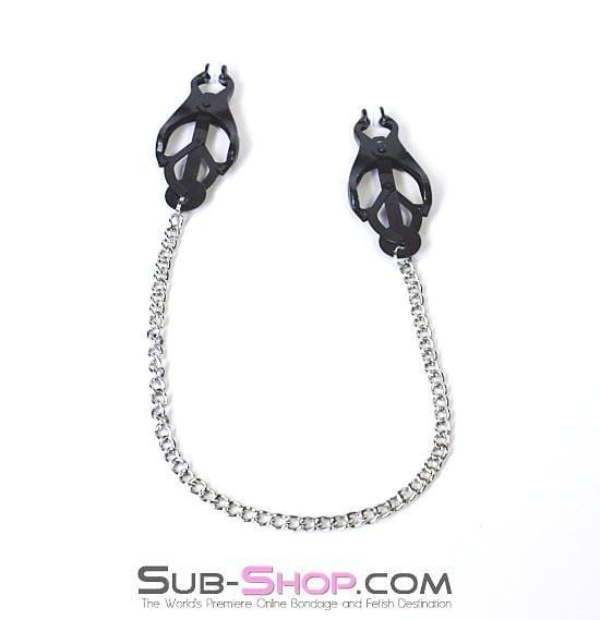 Dark Fantasy Blackline Clover Nipple Clamps - Sale BDSM, Bondage Gear, Adult Toys, Bondage Sex, Orgasm Belt, Male Chastity, Bondage Gag. Bondage Slave Collars, Wrist Cuffs, Submissive, Dominant, Master, Mistress, Cross Dressing, Sex Toys, Bondage Sale, Bondage Clearance, MEGA Deal Bondage, Sub-Shop Bondage and Fetish Superstore