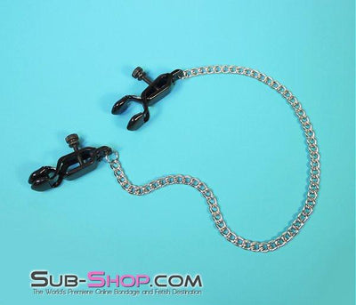526MH      Squeeze Play Blackline Wide Adjustable Nipple Clamps - Sale BDSM, Bondage Gear, Adult Toys, Bondage Sex, Orgasm Belt, Male Chastity, Gags. Bondage Slave Collars, Wrist Cuffs, Submissive, Dominant, Master, Mistress, Crossdresser, Sub-Shop Bondage and Fetish Superstore