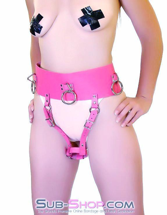 560A      Ladies First Hot Pink Leather Bondage Orgasm Belt with Butt Plug Keeper - Sale BDSM, Bondage Gear, Adult Toys, Bondage Sex, Orgasm Belt, Male Chastity, Gags. Bondage Slave Collars, Wrist Cuffs, Submissive, Dominant, Master, Mistress, Crossdresser, Sub-Shop Bondage and Fetish Superstore