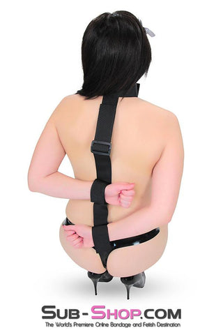 563RS      Beginner's Behind the Back Neck to Wrist Restraints - Sub-Shop Bondage and Fetish Superstore