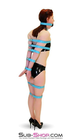 5706A      Locking Bondage Straps, Tiffany Blue Leather - <b>4 Sizes!</b> - Sub-Shop.comStraps - 20