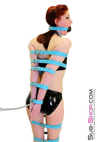 5706A      Locking Bondage Straps, Tiffany Blue Leather - <b>4 Sizes!</b> - Sub-Shop.comStraps - 8