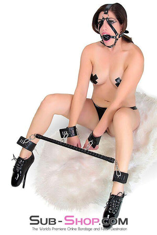 572M      Pandora's Box Black Wrapped Spreader Bar with 4 Snap Clip Connectors <b>Black Friday Blowout!</b>