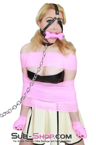Good Girl Pink Puppy Play Bone Gag Trainer - Sale BDSM, Bondage Gear, Adult Toys, Bondage Sex, Orgasm Belt, Male Chastity, Bondage Gag. Bondage Slave Collars, Wrist Cuffs, Submissive, Dominant, Master, Mistress, Cross Dressing, Sex Toys, Bondage Sale, Bondage Clearance, MEGA Deal Bondage, Sub-Shop Bondage and Fetish Superstore