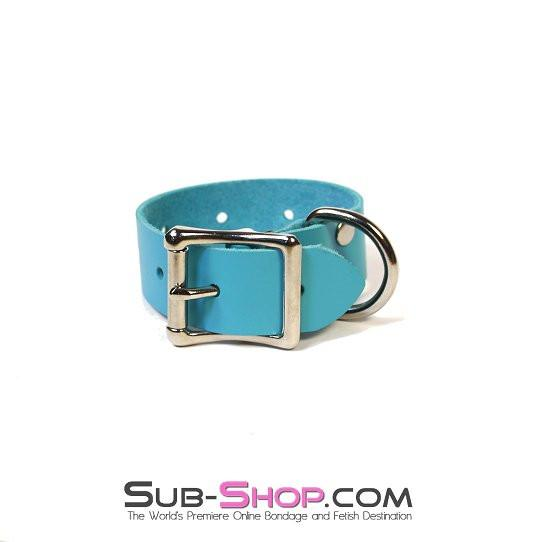 5753A      Bondage Gear Extender Strap, Diamond Blue Leather