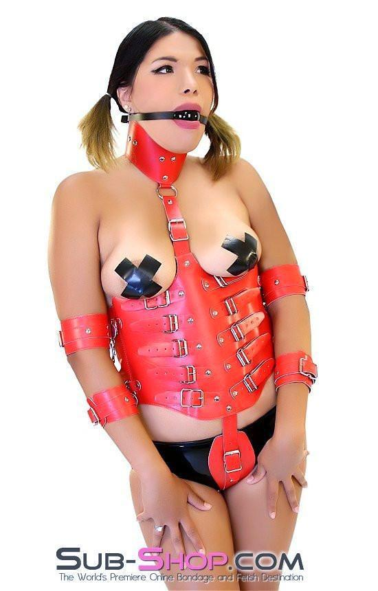 581HS     Red Hot Training Corset with Detachable Restraints - <b>MEGA Deal</b> - Sale BDSM, Bondage Gear, Adult Toys, Bondage Sex, Orgasm Belt, Male Chastity, Gags. Bondage Slave Collars, Wrist Cuffs, Submissive, Dominant, Master, Mistress, Crossdresser, Sub-Shop Bondage and Fetish Superstore