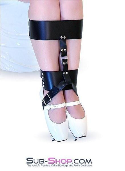 Ankle & Knee Cuffs with High Heel Bondage Strap - Sale BDSM, Bondage Gear, Adult Toys, Bondage Sex, Orgasm Belt, Male Chastity, Bondage Gag. Bondage Slave Collars, Wrist Cuffs, Submissive, Dominant, Master, Mistress, Cross Dressing, Sex Toys, Bondage Sale, Bondage Clearance, MEGA Deal Bondage, Sub-Shop Bondage and Fetish Superstore