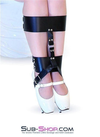 633MH      Ankle & Knee Cuffs with High Heel Bondage Strap - Sub-Shop.comCuffs - 3