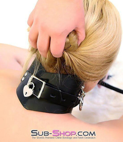 636A      Locking Slave Trainer Posture Collar - Sub-Shop.comCollar - 3