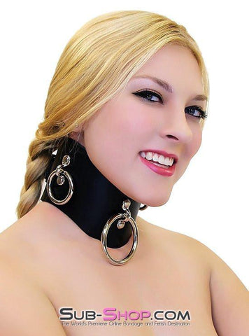 636A      Locking Slave Trainer Posture Collar - Sub-Shop.comCollar - 1
