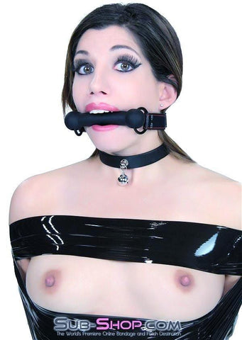 7929DL    Black Beauty Silicone Rubber Comfort Bit Gag - Sub-Shop.comGags - 6