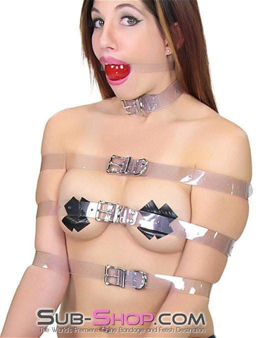 6783A  Clearly Perfect Bondage Straps - <b>6 Sizes!</b> - Sub-Shop.comStraps - 3