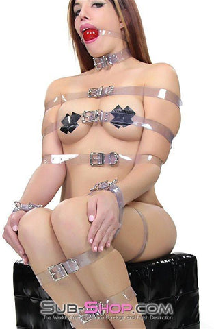 6783A  Clearly Perfect Bondage Straps - <b>6 Sizes!</b> - Sub-Shop.comStraps - 4