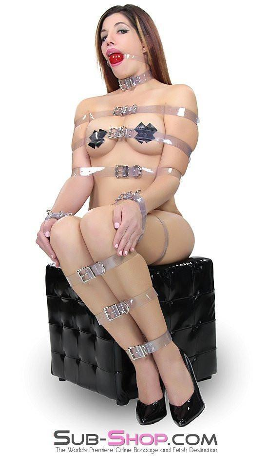 6783A  Clearly Perfect Bondage Straps - <b>6 Sizes!</b> - Sale BDSM, Bondage Gear, Adult Toys, Bondage Sex, Orgasm Belt, Male Chastity, Gags. Bondage Slave Collars, Wrist Cuffs, Submissive, Dominant, Master, Mistress, Crossdresser, Sub-Shop Bondage and Fetish Superstore