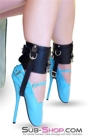 6790A  Stiletto Prisoner Wide Locking Shoe Cuffs - Sub-Shop.comcuff - 2