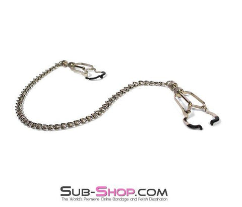 6818MH      Twist & Shout Adjustable Chained Black Nipple Clamps - Sub-Shop.comNipple Clamp - 7