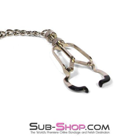 6818MH      Twist & Shout Adjustable Chained Black Nipple Clamps - Sub-Shop.comNipple Clamp - 2