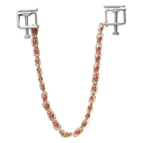 6821MH      Nipple Press Pink Beaded Chain Nipple Clamps - Sub-Shop.comNipple Clamp - 4