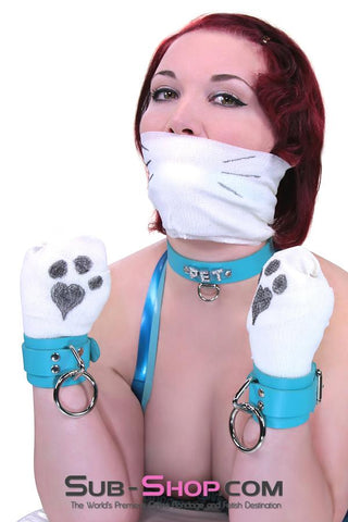 6848A   Diamond Blue Jeweled PET Rhinestone Leather Collar - Sale BDSM, Bondage Gear, Adult Toys, Bondage Sex, Orgasm Belt, Male Chastity, Gags. Bondage Slave Collars, Wrist Cuffs, Submissive, Dominant, Master, Mistress, Crossdresser, Sub-Shop Bondage and Fetish Superstore