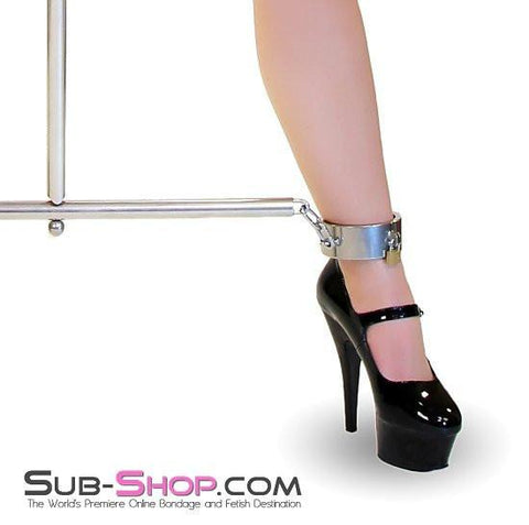 6922AR      Intensely Fucked Stainless Steel Spreader Bar with Steel Ankle Cuffs with attached Large Steel Dildo - Sub-Shop.comSpreader Bar - 6