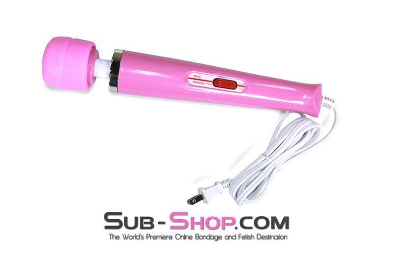 Pink Magic Massager Two Speed Wand Vibrator - Sale BDSM, Bondage Gear, Adult Toys, Bondage Sex, Orgasm Belt, Male Chastity, Bondage Gag. Bondage Slave Collars, Wrist Cuffs, Submissive, Dominant, Master, Mistress, Cross Dressing, Sex Toys, Bondage Sale, Bondage Clearance, MEGA Deal Bondage, Sub-Shop Bondage and Fetish Superstore
