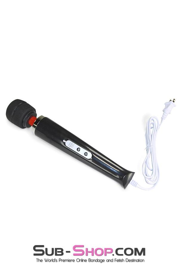 10 Speed Magic Wand Massager, Black - Sale BDSM, Bondage Gear, Adult Toys, Bondage Sex, Orgasm Belt, Male Chastity, Bondage Gag. Bondage Slave Collars, Wrist Cuffs, Submissive, Dominant, Master, Mistress, Cross Dressing, Sex Toys, Bondage Sale, Bondage Clearance, MEGA Deal Bondage, Sub-Shop Bondage and Fetish Superstore