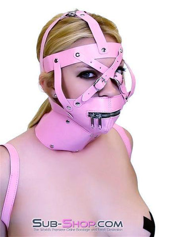 6993HS      Pink Posture Collar and Zippered Muzzle Trainer Set - <b>MEGA Deal</b> - Sale BDSM, Bondage Gear, Adult Toys, Bondage Sex, Orgasm Belt, Male Chastity, Gags. Bondage Slave Collars, Wrist Cuffs, Submissive, Dominant, Master, Mistress, Crossdresser, Sub-Shop Bondage and Fetish Superstore