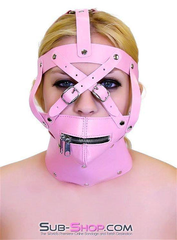 6993HS      Pink Posture Collar and Zippered Muzzle Trainer Set - Sub-Shop.comGags - 3
