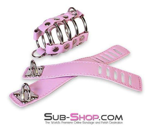 6998HS      Feminizing Pink Cock Cage with Ball Spreader Set - Sub-Shop.comCock Cage - 1