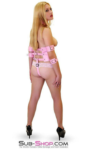 7017MH      Adorably Pink Training Corset with Detachable Restraints and Chastity Strap - Sub-Shop.comChastity - 4