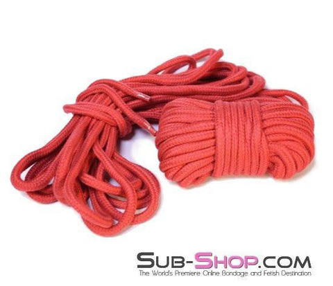 7027ZG      Japanese Silk Braided Bondage Rope, Lustful Red