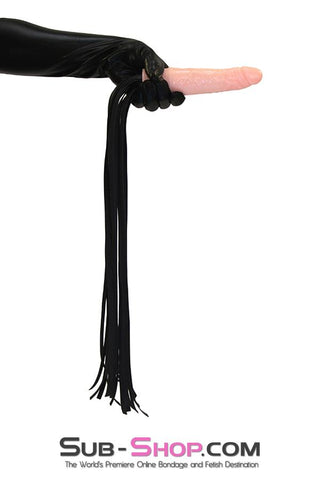 7108DL     Completely Fuckable Dildo Whip with Long Leatherette Tails - <b>MEGA Deal</b> - Sale BDSM, Bondage Gear, Adult Toys, Bondage Sex, Orgasm Belt, Male Chastity, Gags. Bondage Slave Collars, Wrist Cuffs, Submissive, Dominant, Master, Mistress, Crossdresser, Sub-Shop Bondage and Fetish Superstore