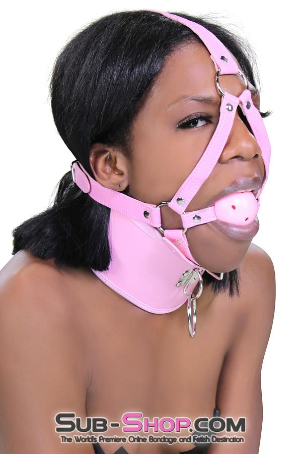 Pink Breather Ball Gag Trainer - Sale BDSM, Bondage Gear, Adult Toys, Bondage Sex, Orgasm Belt, Male Chastity, Gags. Bondage Slave Collars, Wrist Cuffs, Submissive, Dominant, Master, Mistress, Crossdresser, Sub-Shop Bondage and Fetish Superstore