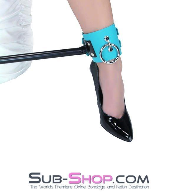 7194A   Candy Bar Bondage Spreader Bar with Diamond Blue Leather Cuffs - Sale BDSM, Bondage Gear, Adult Toys, Bondage Sex, Orgasm Belt, Male Chastity, Gags. Bondage Slave Collars, Wrist Cuffs, Submissive, Dominant, Master, Mistress, Crossdresser, Sub-Shop Bondage and Fetish Superstore