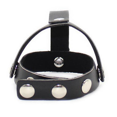 7209DL       Cock Ring Strap with T-Style Ball Divider - <b>Deal FRENZY!</b> - Sub-Shop Bondage and Fetish Superstore